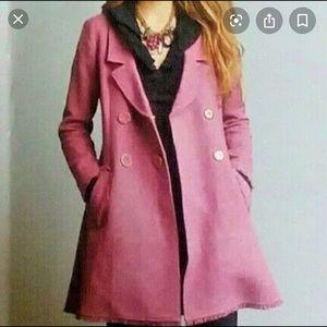 Cabi Tweed Double Breasted Madison Avenue Pea Coat